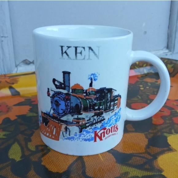 VINTAGE COFFEE MUG KEN TRAIN KNOTTS BERRY FARM
